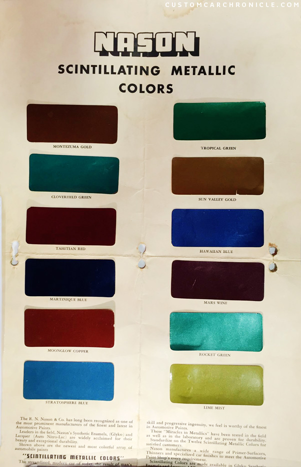 Paint color chip for nason paint autos post for Paint color chips