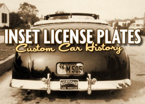 Inset License Plates