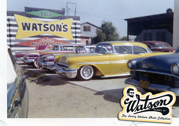 One of the many multi Watson Car photo shoots that took place at this shop.The large parking space in front and the bright colored shop wall were perfect conditions for taking photos Some of them where taken from the roof top of a next door building.