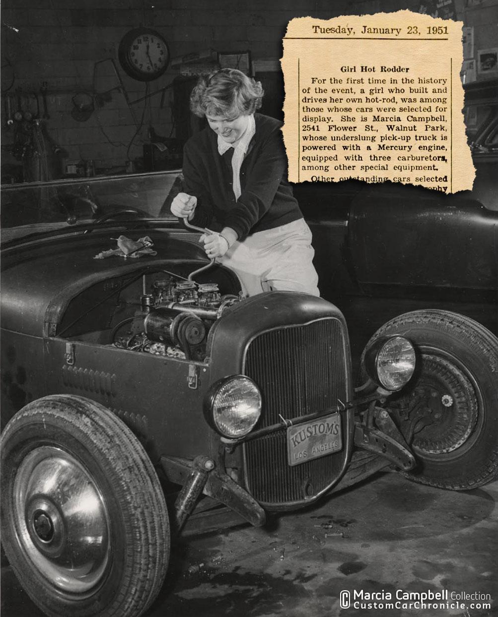 Marcia Campbell\'s Hot Rod at Custom Car ChronicleCustom Car Chronicle