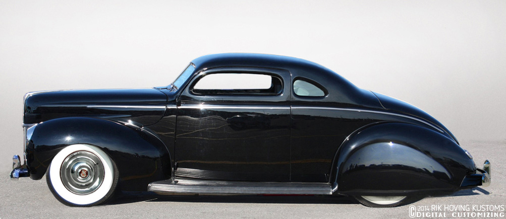 Restyling 1940 Ford Coupe on car b pillar