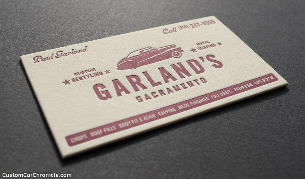 Garland\'s Business Card - Custom Car ChronicleCustom Car Chronicle