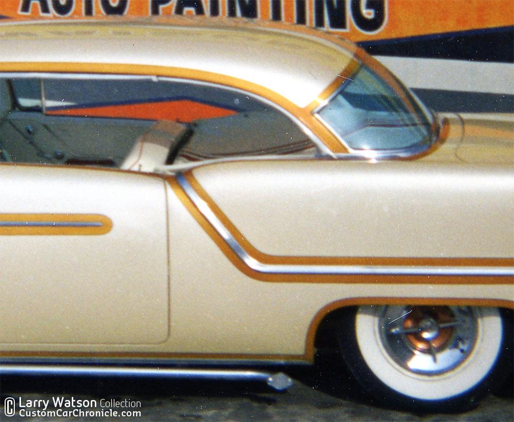 Watson outlined 39 54 olds custom car chroniclecustom car Light burnt orange paint