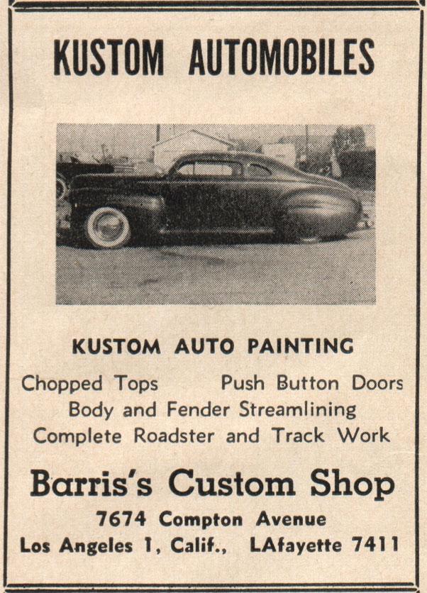 Barris magazine ads - Custom Car ChronicleCustom Car Chronicle