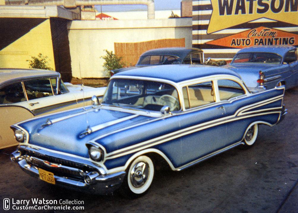 larry watson 57 chevys custom car chroniclecustom car chronicle. Black Bedroom Furniture Sets. Home Design Ideas