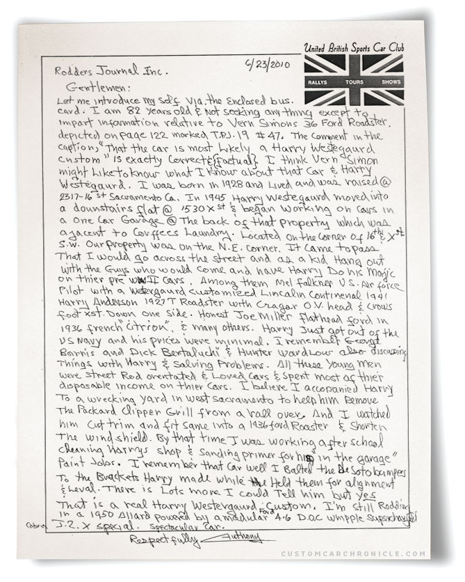 CCC-westergard-ford-memories-letter2