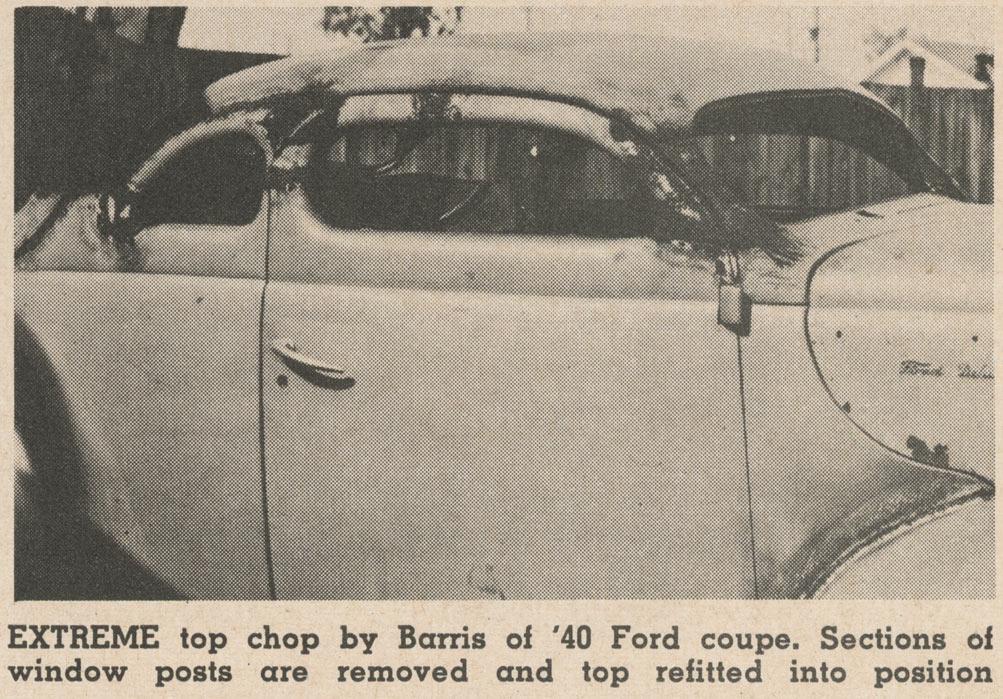 Barris 40 Ford chopped top
