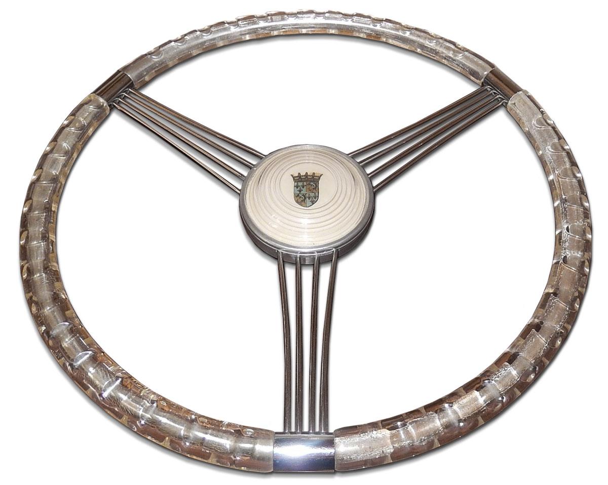 Plastic Steering Wheel : Saoutchik plastic steering wheel custom car