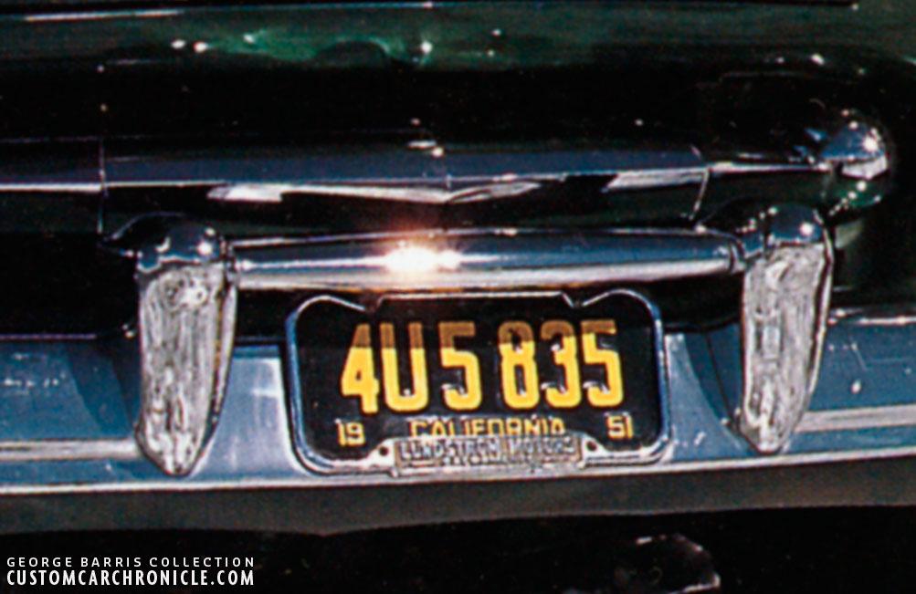 Sam Barris Merc License Plate Frame - Custom Car ChronicleCustom Car ...
