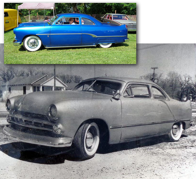 Carlos Jenkins 1950 Ford coupe is perhaps the best known s&le of the flat side Shoebox Fords that used Caddy Tail-Fins. The car was build in 1953 and is ... & Customizing with early Cadillac Tail Fins - Custom Car ... markmcfarlin.com
