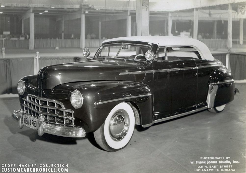 1947 ford mystery barris custom custom car chroniclecustom car American Muscle Calendar taken at the 1951 indianapolis custom auto show the car still has california plates on it 1950 tag