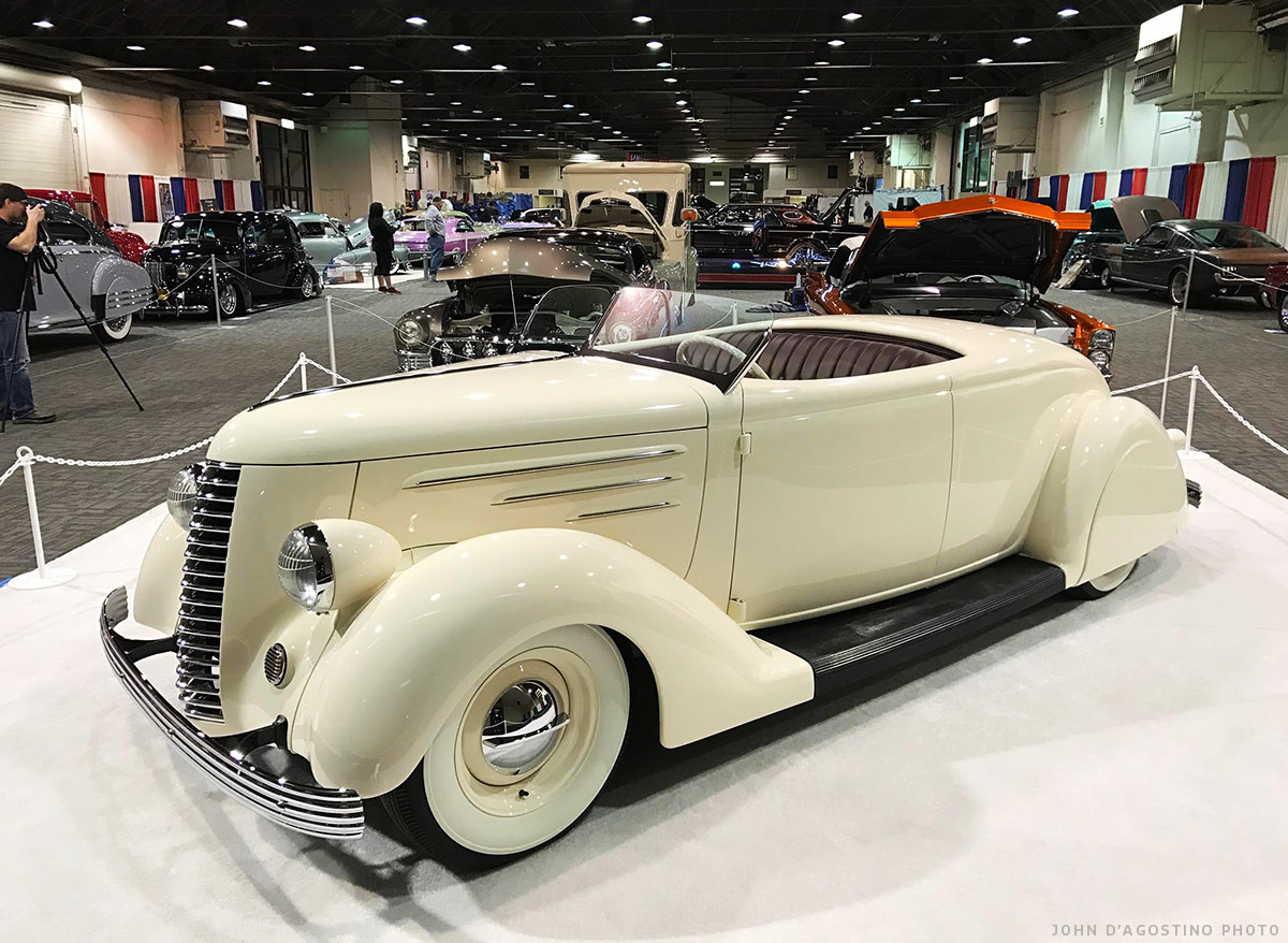 Altissimo 36 Ford Roadster Venus Custom Car Chroniclecustom 1949 Styleline Chevy Horn Wiring At Its 2017 Gran National Show Debut