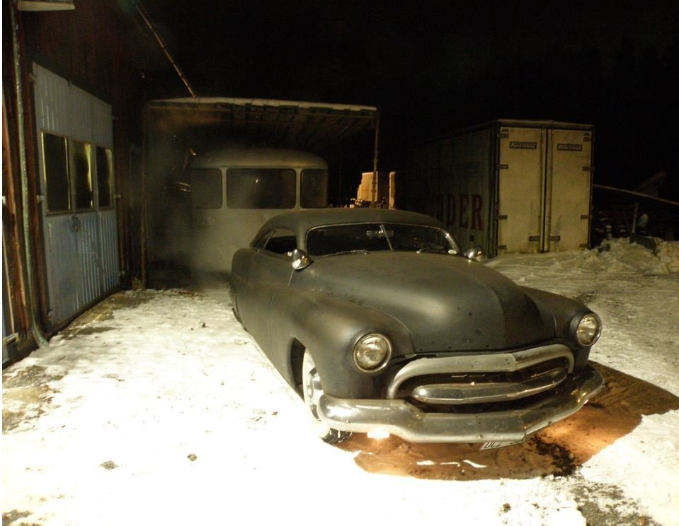 My Merc in the snow