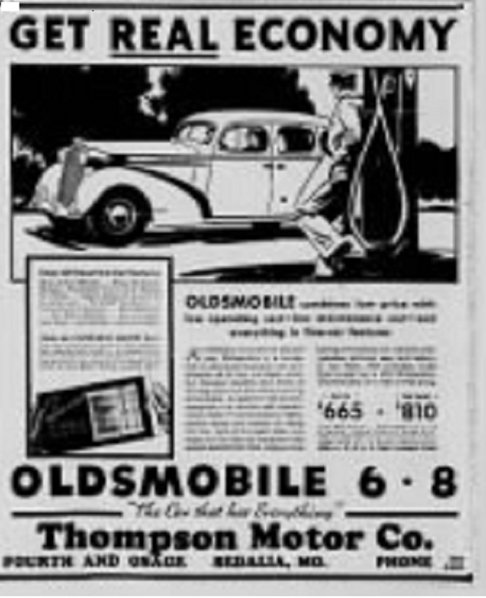 02-Thompson Motors, Sedalia, MO 1936 ad